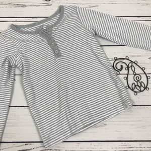 Carters Girls 5t Gray Striped Long Sleeve Shirt